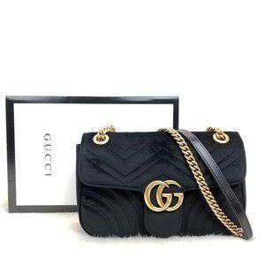 Black Color Gucci Marmont Velvet